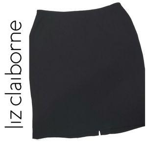 LIZ CLAIBORNE Textured Suit Skirt Petites
